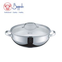 Buffalo - DOUBLE ASTUTE28cm Stainless steel Functional Boiler with glass lid (383328A) 383328A