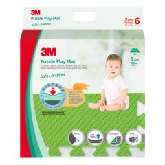 3M™ 兒童安全地墊-方塊型 (綠色) 3M_33018