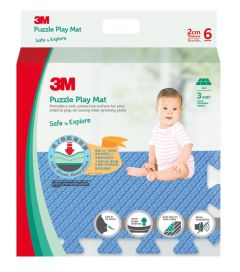 3M™ 兒童安全地墊-方塊型 (藍色) 3M_33020