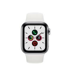 APPLE WATCH SERIES 5 (GPS + 流 動 網 絡 ) 不鏽 鋼錶殼配白色運動錶帶 AWS5-STL-WH-BD
