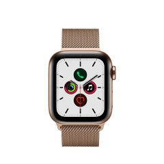 APPLE WATCH SERIES 5 (GPS + 流 動 網 絡 ) 金 色 不 鏽 鋼 錶 殼 配 金 色 鋼 織 手 環 AWS5-GD-STL-GD-LP