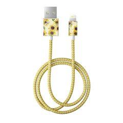 iDeal Of Sweden 時尚LIGHTNING充電線 (2M) - SUNFLOWER LEMONADE