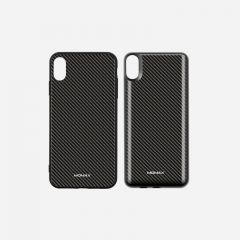 MOMAX Q.POWER PACK MAGNETIC WIRELESS CHARGING CASE 6000MAH (FOR IPHONE XS MAX) CARBON FIBER PATTERN 4140101