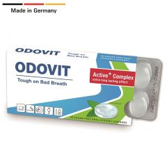 ODOVIT - The Mouthwash On-The-Go - 10 sugar-free oral hygiene lozenges x 1 pack - Tough on Bad Breath 41429