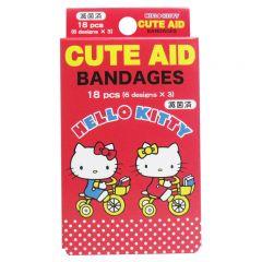 SANTAN 凱蒂貓藥水膠布18枚 (自行車圖案)