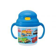 Skater - Tomica Mug with Straw - Blue 4973307230578