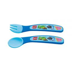 Skater - Tomica Spoon & Fork Set - Blue 4973307230585