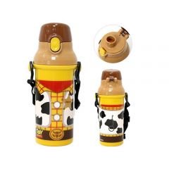 Skater - Woody Water Bottle with Straw - Yellow 4973307259517
