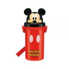 Skater - Mickey Plastic Water Bottle - Red 4973307268489