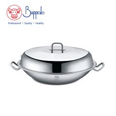 Buffalo - Simplex 36CM5-PLY Wok with Stainless Steel Lid (502236A) 502236A