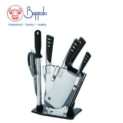 Buffalo - 7-piece suit Chinese kitchen knife with display rack (596048) 596048