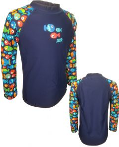 ZOGGS Crazy Fish 印花短袖防晒上衣