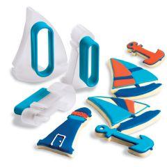 Cuisipro - 扣合式曲奇餅刀模器套件 - 帆船