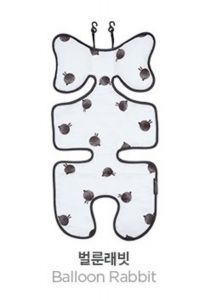 Little Fennec - 韓國嬰兒車可愛背襯墊 (黑色兔兔球) 8806164493519BR