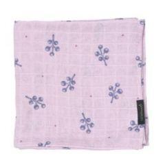 Little Fennec - 100%純棉韓國嬰童輕型小被被 -粉紫小花 8806164499283CG
