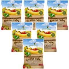 Greenday - 6packs Thai Banana Chips Fruit Snack Foods With Strawberry Powder 8858358008962_6