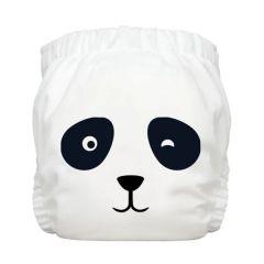 Charlie Banana® 1條裝2條片芯多功能均碼尿布 - Panda White