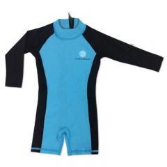 Charlie Banana® 防曬連身泳衣 - Black/Turquoise (4 碼)