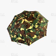 梁蘇記 - 纖維骨自動三縮雨傘 - 迷彩綠