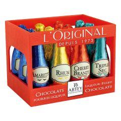 "Abtey - RED CRATE ""L'ORIGINAL"" 12 assorted liqueur bottles"