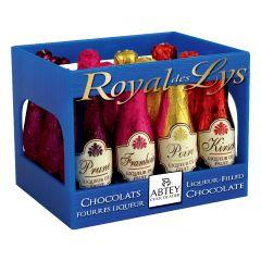 """Abtey - BLUE CRATE """"ROYAL DES LYS"""" 12 assorted liqueur bottles"""