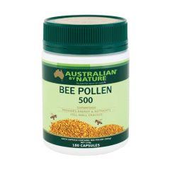 Australian by Nature Bee Pollen 500mg 180 Capsules ABN00587