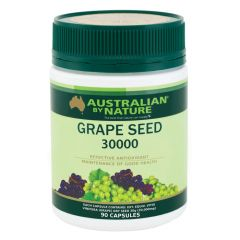 Australian by Nature Grape Seed 30000mg - 90 Capsules ABN00617