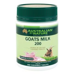 Australian by Nature Goats Milk 200mg 300 Tablets Variety - Strawberry ABN00621-S