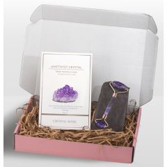 CRSYTAL MASK - AMETHYST CRYSTAL DEEP HYDRATION MASK + Natural Amethyst Facial Roller ACM1901-5-B_AFR