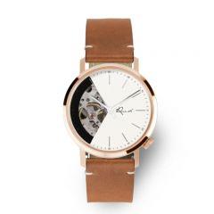 EONIQ ALSTER-S 個人化腕錶 - 浪漫玫瑰金外殼 x 珍珠白鏤空錶面 [錶面加字] ALSTER-S-sku1-RG