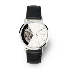 EONIQ ALSTER-S 個人化腕錶 - 簡約純銀色外殼 x 珍珠白鏤空錶面 [錶面加字] ALSTER-S-sku1-WH