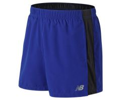 New Balance Mens AMS81278 Accelerate 5IN Shorts Blue