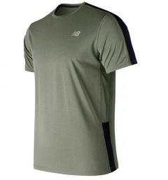 New Balance Mens AMT73061 Accelerate Short Sleeve T-Shirt Green