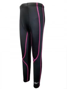 Aquasport 絨毛底保溫褲 (黑/ 粉紅)