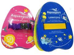 Aquasport 多色游泳浮背 (2-6歲適用)