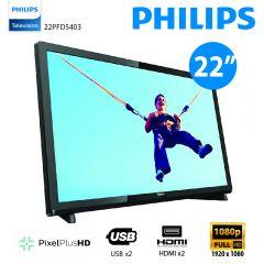 Philips - 22吋超薄LED智能電視 22PFD5403 (香港行貨) 不包免費安裝 22PFD5403