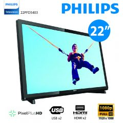 Philips - 22吋超薄LED智能電視 22PFD5403 (香港行貨) 送T恤 (隨機顏色及尺寸