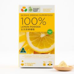 Beanie - 100% Freeze Dried Australian Organic Lemon Powder (All-natural 14 sachets) BEBG004