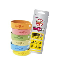 BUGSLOCK - Anti-mosquito bracelet 30pc (Assorted Colour) BLMB30
