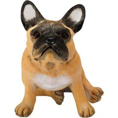 """Chapman Scuptures French Bulldog Hand PaintedSolid Ceramic Status 5.7"""" (Fawn) C0006CSDFBL"""