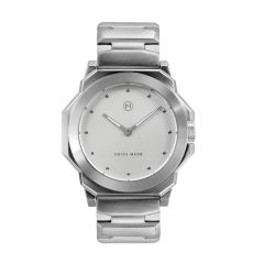 NOVE Rocketeer Swiss Made Quartz Watch White Dial for Men and Women C002-07 C002-07
