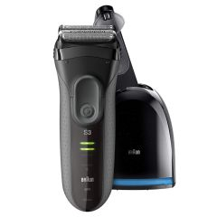 Braun Series 3 ProSkin 3050cc Rechargeable Electric Shaver with Clean&Charge system