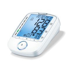 Beurer BM47 Upper Arm Blue-illuminated XL LCD & Colored LED Scale BPM(4 x 30 memories)22-35cm C02293
