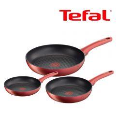 Tefal - 頂級易潔煎鍋3件裝 (電磁爐適用) C68292 [法國製造] C68292
