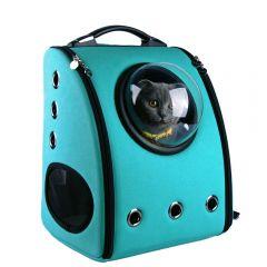U-pet - Bubble Pet Carriers Backpack (Blue) CB003F-Blue