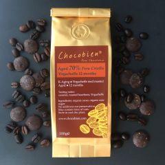 Chocobien Chocolatier - 70%秘魯Criollo朱古力配耶加雪菲咖啡豆熟成12個月 CC-0003