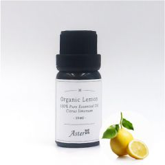 Aster Aroma Organic Lemon Essential Oil (Citrus limonum) - 10ml CL-020260010O