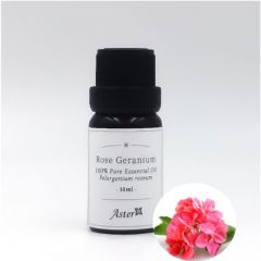 Aster Aroma Rose Geranium 100% Pure Essential Oil (Pelargonium graveolens) - 10ml CL-020450010