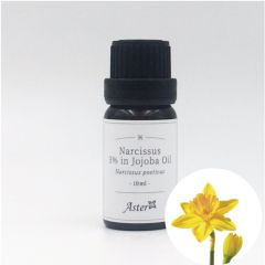 Aster Aroma 3% Narcissus Absolute (Narcissus poeticus) in Organic Jojoba Oil (Simmondsia chinensis) - 10ml CL-030010030