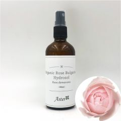 Aster Aroma Organic Rose Bulgarian Hydrosol (Rosa damascena)  - 100ml CL-040060100O